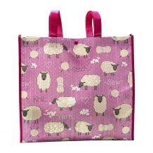 Stitch and Knit Sheep Reusable Tote - CLOSEOUT