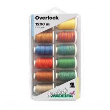 Madeira Aerolock Multi-Color Overlock & Sewing Thread - 12 Spool Thread Kit