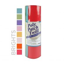 Poly Patch Twill by DIME Designs in Machine Embroidery 8-Color Assortment - Brights Colors