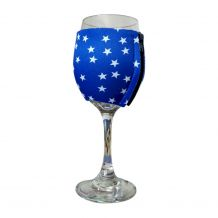 The Coral Palms® EasyStitch Zipper Wrap-Around Wine Glass Coolie - STARS - CLOSEOUT