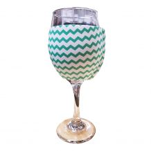 The Coral Palms® EasyStitch Zipper Wrap-Around Wine Glass Coolie - CHEVRON - CLOSEOUT