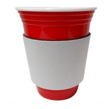 Unsewn Coffee & Stadium Cup Coolie Embroidery Blanks - WHITE - CLOSEOUT