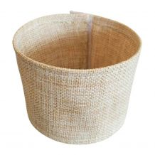 The Coral Palms® Jute Burlap Velcro 30oz Tumbler Coolie Wrap Embroidery Blanks - CLOSEOUT