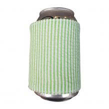 The Coral Palms® Reversible Seersucker & Jute 12oz Velcro Can Wrap - LIME - CLOSEOUT
