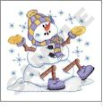 Christmas Snowpeople Embroidery Designs by Dakota Collectibles on a CD-ROM 970205