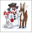 Playful Snowmen Embroidery Designs by Dakota Collectibles on a CD-ROM 970161