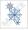 Sparkle Snowflakes Embroidery Designs by Dakota Collectibles on a Multi-Format CD-ROM