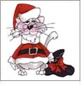 Kitty Kitty Christmas by Loralie Designs Embroidery Designs on a Multi-Format CD-ROM 630071
