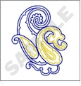 Scrolls & Crest 5 Embroidery Designs by Gunold on a Multi-Format CD-ROM 970337