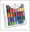 Brother 40 Color Polyester Embroidery Thread Set