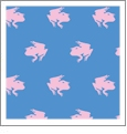 Frogs Huckleberry with Grapefruit - Kiwi Embroidery Paper - One 8.5in x 11in Sheet