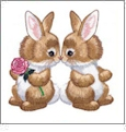 Morehead Bountiful Bunnies Embroidery Designs on a Multi-Format CD-ROM GC219C-MH16