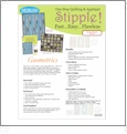 One Step Quilting & Applique Stipple - Geometrics from Eileen Roche