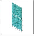 "AccuQuilt GO! Fabric Cutter Diamonds - 4"" x 4"" Quilt Die - 55040"