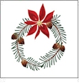 Poinsettias and Pine Boughs Embroidery Designs by Amazing Designs on a Multi-Format CD-ROM ADP-75J