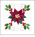 Creative Quilting Embroideries Charming Poinsettias Embroidery Designs by Amazing Designs on a Multi-Format CD-ROM CQECP