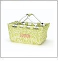 Foldable Market Tote Embroidery Blanks - LIME FLORAL