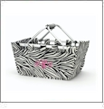 Foldable Market Tote Embroidery Blanks - ZEBRA