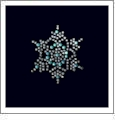 "Snowflake - Crystal & Blue Rhinestones 1.5"" x 1.5"" Iron-On by Mark Richards"