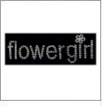 "Flowergirl - Silver Facets 1""x4.5"" Iron-On by Mark Richards CLOSEOUT"