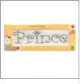 "Prince - Crystals 1.25""x5"" Crystal Daisy Baby Iron-On by Mark Richards CLOSEOUT"