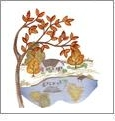 Autumn Medley Embroidery Designs on a Multi-Format USB Stick USB-884