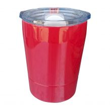 8oz Double Wall Stainless Steel Super Tumbler - RASPBERRY RED - CLOSEOUT