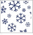 Let It Snow 12 - QuickStitch Embroidery Paper - One 8.5in x 11in Sheet- CLOSEOUT