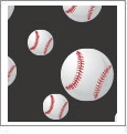 Baseball 05 - QuickStitch Embroidery Paper - One 8.5in x 11in Sheet - CLOSEOUT