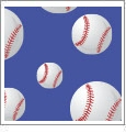 Baseball 04 - QuickStitch Embroidery Paper - One 8.5in x 11in Sheet