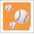 Baseball 02 - QuickStitch Embroidery Paper - One 8.5in x 11in Sheet - CLOSEOUT