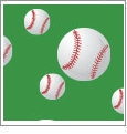 Baseball 01 - QuickStitch Embroidery Paper - One 8.5in x 11in Sheet