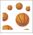 Hoops - Basketball 10 - QuickStitch Embroidery Paper - One 8.5in x 11in Sheet - CLOSEOUT