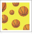 Hoops - Basketball 05 - QuickStitch Embroidery Paper - One 8.5in x 11in Sheet - CLOSEOUT
