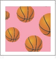 Hoops - Basketball 04 - QuickStitch Embroidery Paper - One 8.5in x 11in Sheet - CLOSEOUT