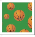 Hoops - Basketball 03 - QuickStitch Embroidery Paper - One 8.5in x 11in Sheet - CLOSEOUT