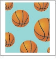 Hoops - Basketball 02 - QuickStitch Embroidery Paper - One 8.5in x 11in Sheet - CLOSEOUT