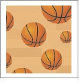 Hoops - Basketball 01 - QuickStitch Embroidery Paper - One 8.5in x 11in Sheet - CLOSEOUT