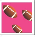 Football 08 - QuickStitch Embroidery Paper - One 8.5in x 11in Sheet - CLOSEOUT