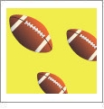 Football 07 - QuickStitch Embroidery Paper - One 8.5in x 11in Sheet - CLOSEOUT