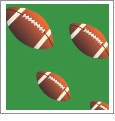 Football 01 - QuickStitch Embroidery Paper - One 8.5in x 11in Sheet - CLOSEOUT