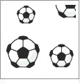 Just For Kicks - Soccer 10 - QuickStitch Embroidery Paper - One 8.5in x 11in Sheet- CLOSEOUT