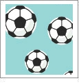 Just For Kicks - Soccer 02 - QuickStitch Embroidery Paper - One 8.5in x 11in Sheet - CLOSEOUT