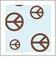 Peace Dude 05 - QuickStitch Embroidery Paper - One 8.5in x 11in Sheet - CLOSEOUT