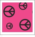 Peace Dude 07 - QuickStitch Embroidery Paper - One 8.5in x 11in Sheet - CLOSEOUT