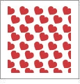 Hearts 01 - QuickStitch Embroidery Paper - One 8.5in x 11in Sheet- CLOSEOUT