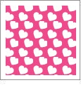 Hearts 02 - QuickStitch Embroidery Paper - One 8.5in x 11in Sheet- CLOSEOUT