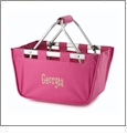 Mini Foldable Market Tote Embroidery Blanks - HOT PINK
