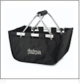 Mini Foldable Market Tote Embroidery Blanks - BLACK