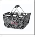 Mini Foldable Market Tote Embroidery Blanks - SWIRL